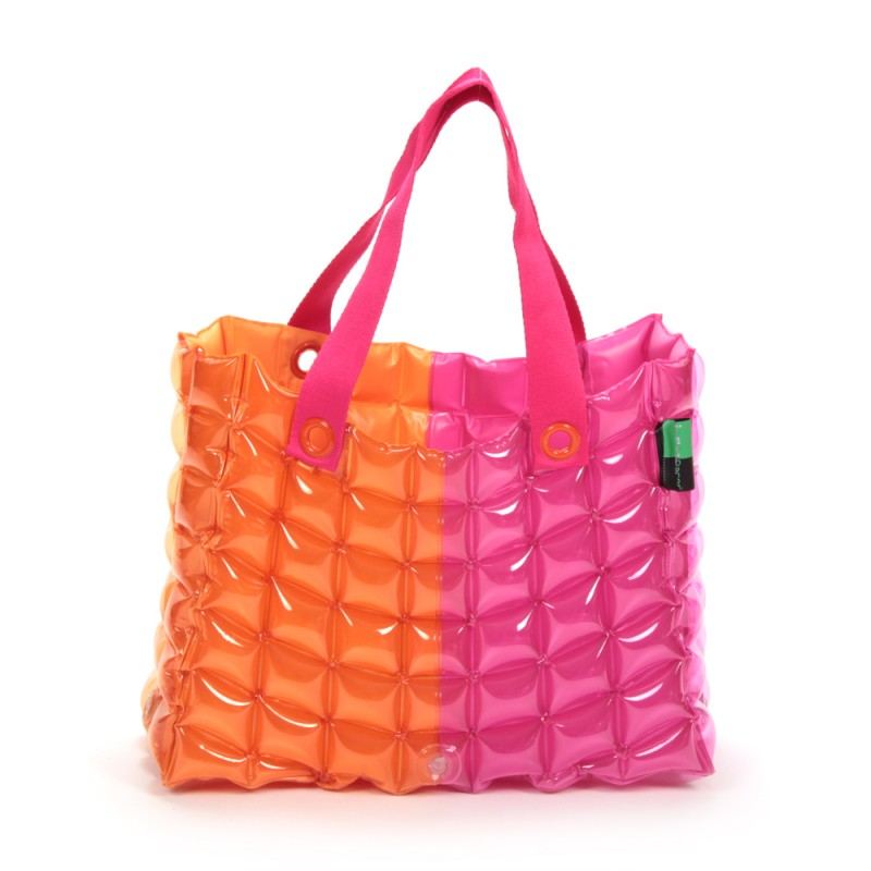 INFLATABLE TOTE BAG TWO TONE