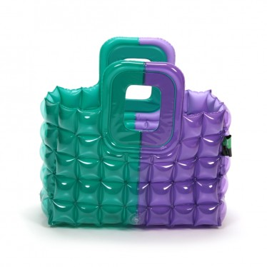 INFLATABLE SHOPPING BASKET TWO TONE