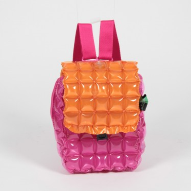 INFLATABLE BACKPACK SQUARE SHAPE TWO TONES