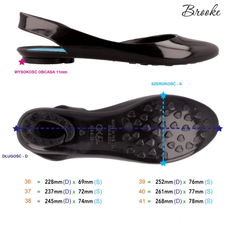Tabela rozmiarów - baleriny - Oka-b